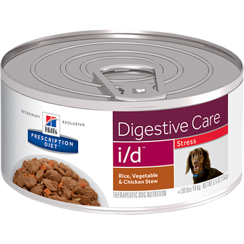 Hill's Canine i/d Stress Rice, Vegetable & Chicken Stew (24 x 5.5oz.)