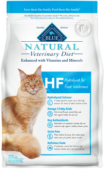BLUE Natural HF Hydrolyzed for Food Intolerance Feline Dry (7 lbs)