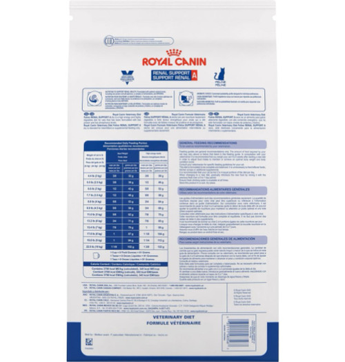 Royal Canin Feline Renal Support A Back