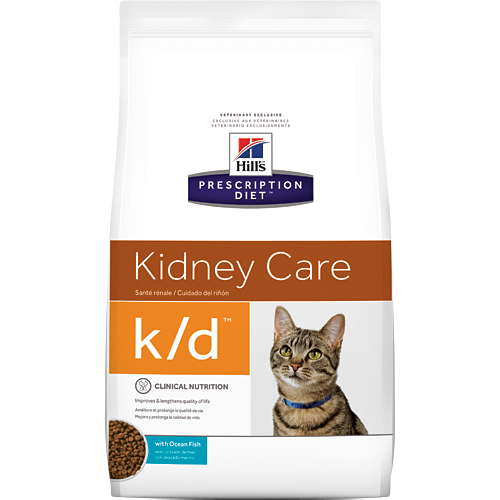 Hill's Feline k/d with Ocean Fish (4 lb. Dry)