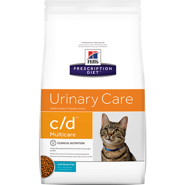 Hill's Feline c/d with Ocean Fish Urinary Tract Health (8.5 lb. Dry)