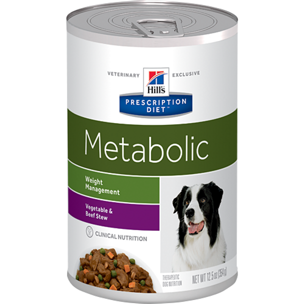 Hill's Canine Metabolic Vegetable & Beef Stew (12 x 12.5 oz. Cans)