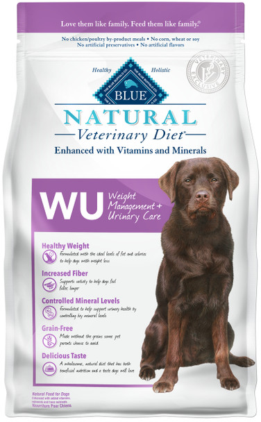 BLUE Natural WU Weight Management + Urinary Care  Canine Dry (6 lbs)