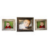 (2) Whitewash 11x14 and (1) Natural 16x20 Barnwood Picture Frames (Set of 3)