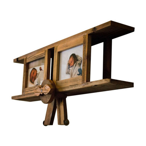 Airplane Nursery Picture Frame, 5x7- Natural