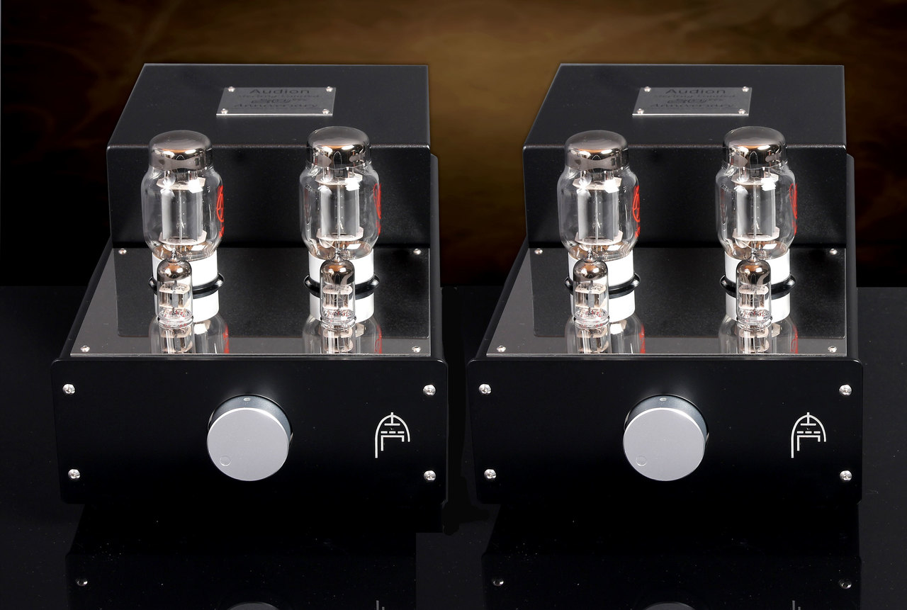 Audion Sterling Stereo KT88  Anniversary Parallel Single Ended Hard Wired Mono Block Amplifiers.