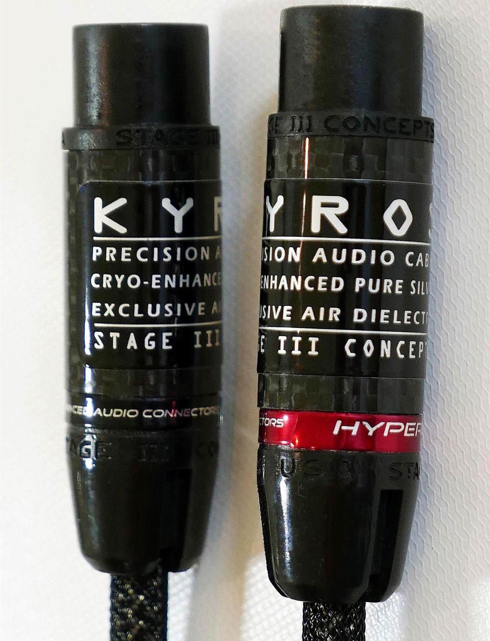 Stage III  Kyros Interconnects.  1 Meter/Pair. True Audiophile.