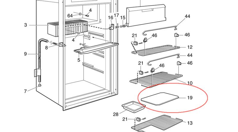Dometic Refrigerator Crisper Bin Cover