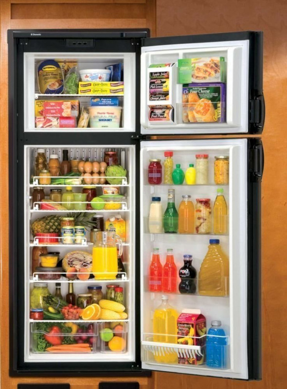 Refrigerator / Freezer; Dual Compartment Refrigerator With Freezer; 7 Cubic Foot; 54-3/4 Inch Height x 25-5/16 Inch Width x 26-1/16 Inch Depth; 2 Way; Double Door; With Black Metal Frame
