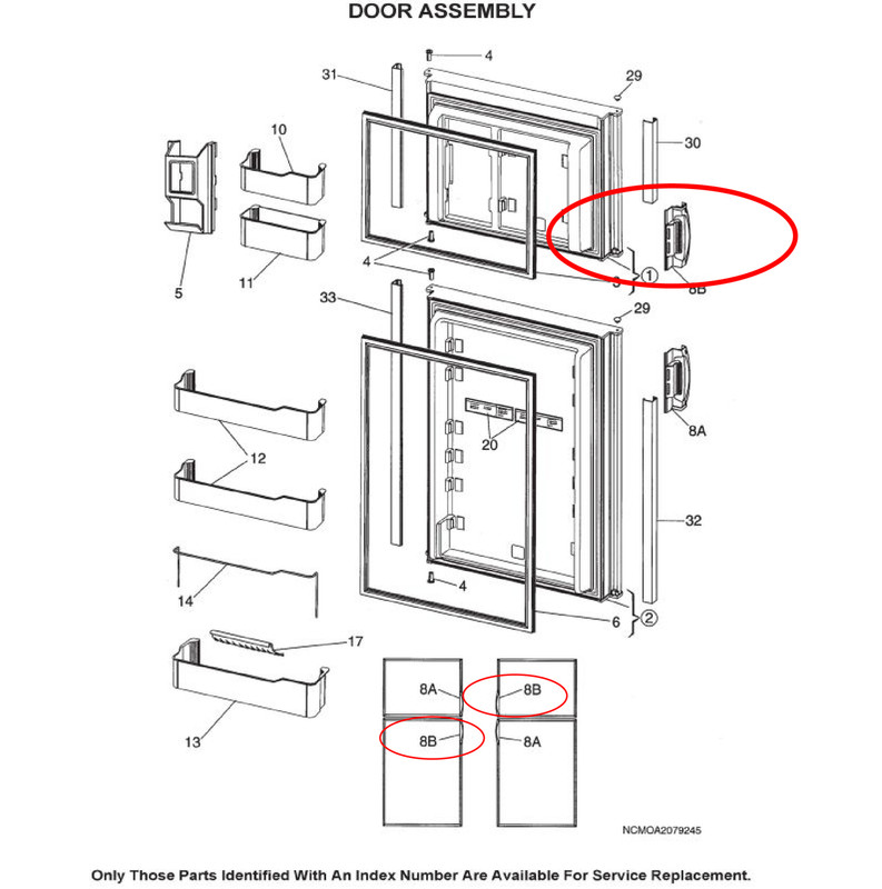 Door Refrigerator Parts & Frigidaire French Door
