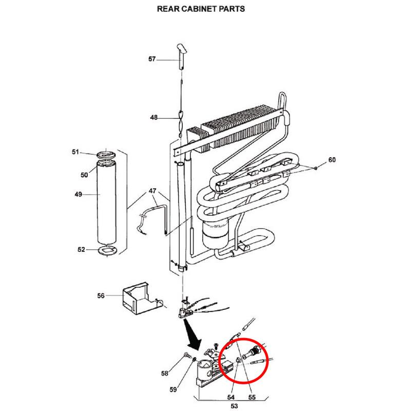 Refrigerator Burner Orifice 2922033044 (RM2193/RM235)