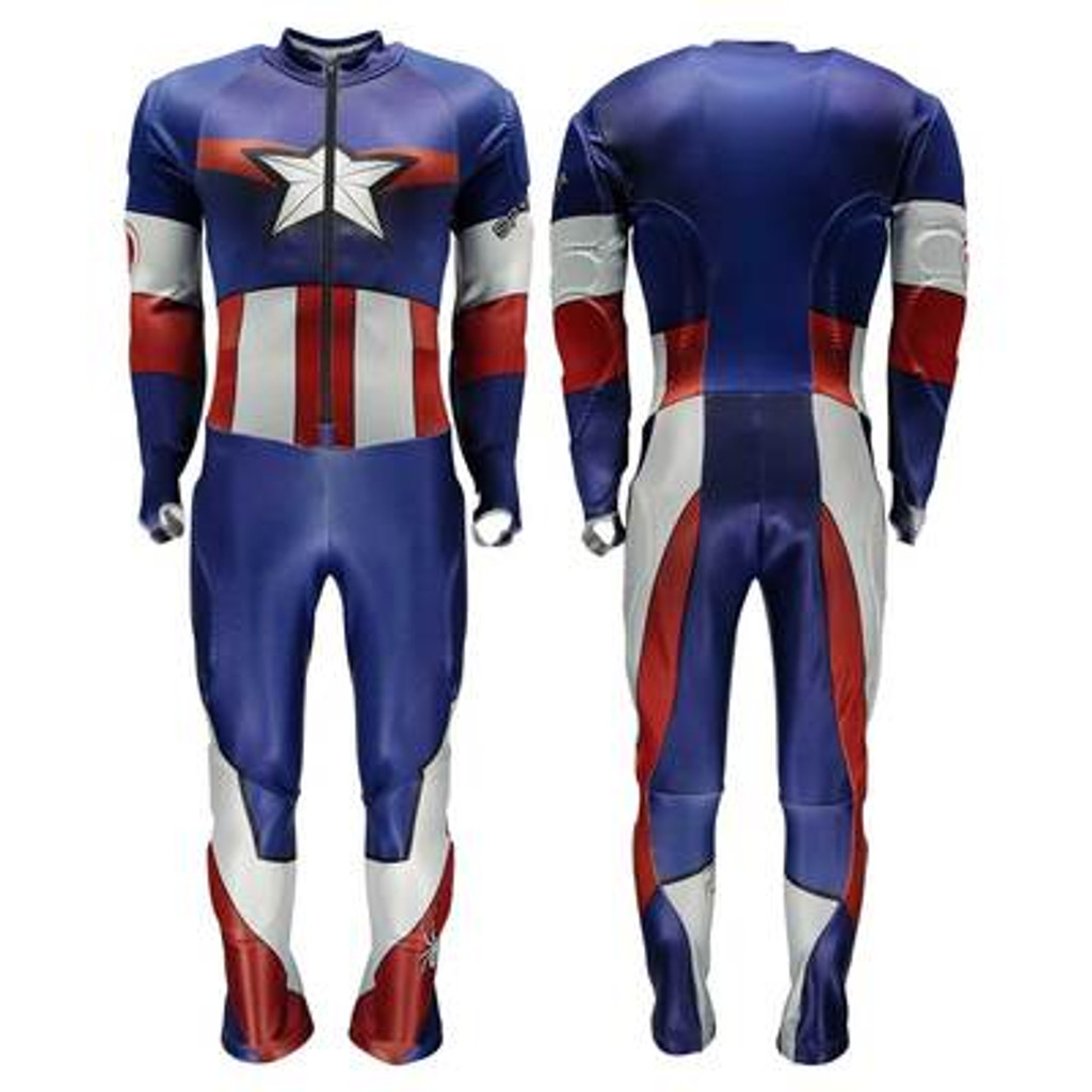 Spyder MEN'S PERFORMANCE XL Captain America GS RACE SUIT  - BLEM