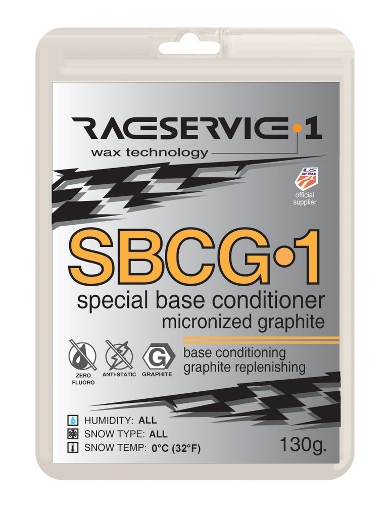 RaceService 1 SBCG1 Graphite Base Prep Wax 130g