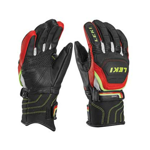 Leki World Cup Race Flex S Jr Gloves - Black/Red