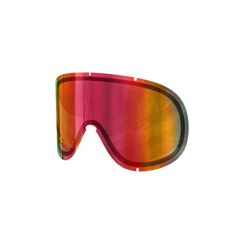 POC Retina Big Double Spare Lens - Persimmon/Red Mirror