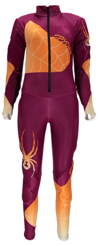 Spyder Women's Nine Ninety GS Ski Race Suit in color Wild / Edge - Front View