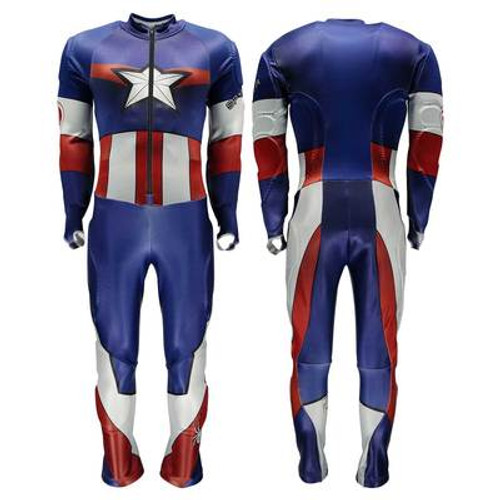 Spyder MEN'S PERFORMANCE XL Captain America GS RACE SUIT  - BLEM