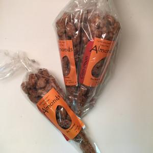 5 Cones - Classic Cinnamon Almonds - (4 oz. festive bags)