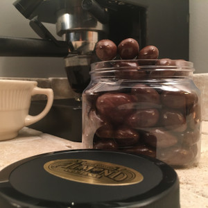 1/2 lb. Jar Dairy Free Chocolate Coated Almonds