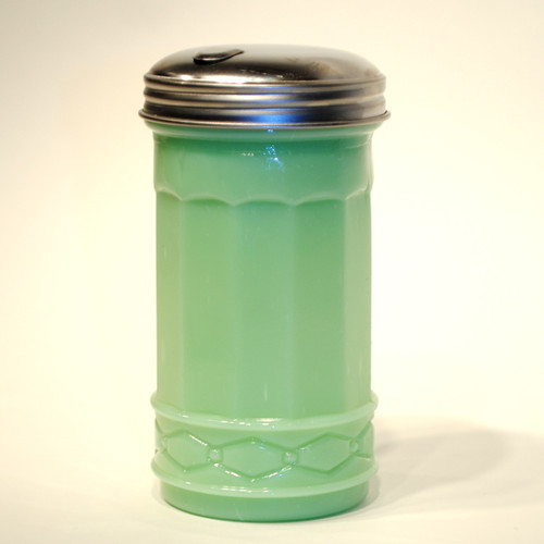 Jade Green Glass Sugar Dispenser