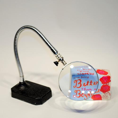 Desk Magnifyer -glass lens holds steady in any position