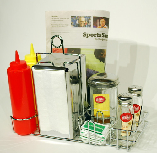 Retro Table-top Condiment Rack -stainless