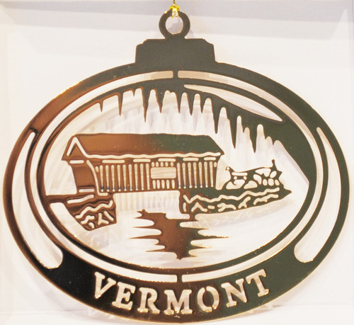 Vermont Christmas Tree Ornament