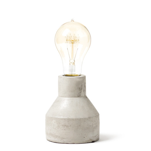 Cement Lamp - Bevelled Cylinder