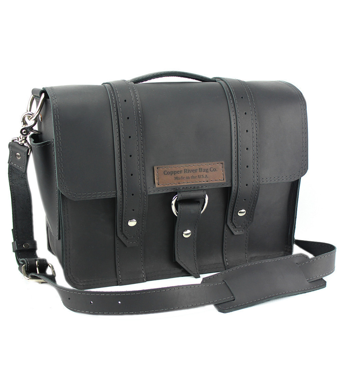 15 Large Sierra Voyager Laptop Bag In Black Napa Excel Leather