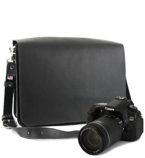 "14"" Medium Mission Newport Camera Bag in Black Excel Leather"