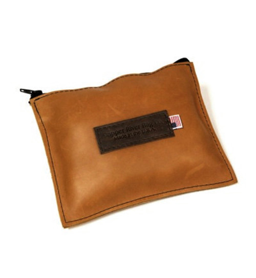 Leather Utility Zip Pouch - Medium - Tan Grizzly - Made in the U.S.A. - MD-ZIP-POUC-TGZ