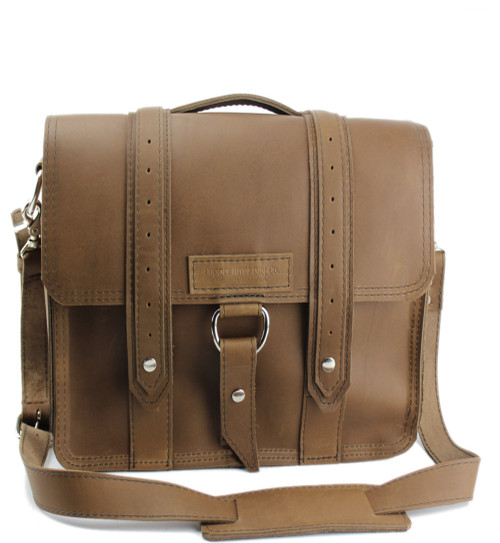 "10"" Small Brooklyn Safari iPad (Tablet) Bag in Brown Oil Tanned Leather"