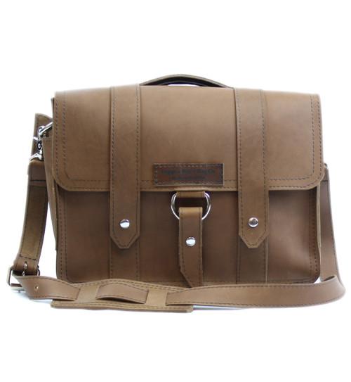 "15"" Large Sierra Journeyman Laptop Bag in Brown Leather"