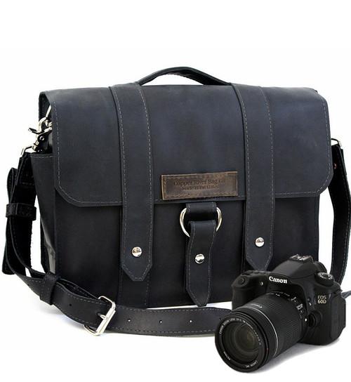 """Large 15"""" Black Journeyman Sonoma Camera Bag Made in the U.S.A. - 15-J-BL-EXL-SMCAM"""