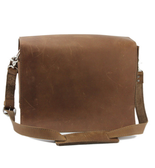"""10"""" Small Safari Mission iPad (Tablet) Bag in Brown Oil Tanned Leather"""