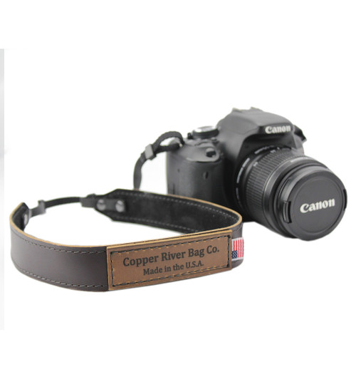 Leather Camera Strap - in Coffee Brown Made in the U.S.A. - CAM-STRP-COF-EXL