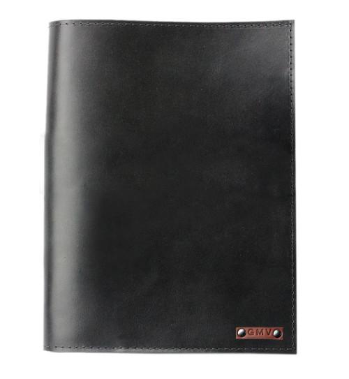 Classic 8.5X11 Padfolio in Black Latigo Leather Made in the U.S.A. - PDF-BL-EXL-8.5X11