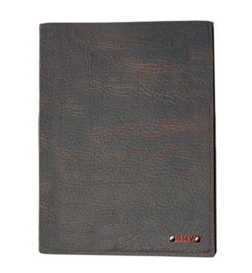 Classic Padfolio in Chocolate Grizzly Leather Made in the U.S.A. - CLSC-CHO-GZ-PDFOL