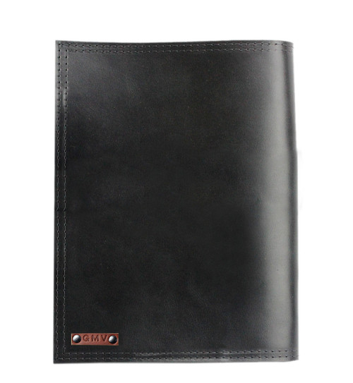 Left handed 8.5 X 11 Classic Padfolio in Black Excel Leather