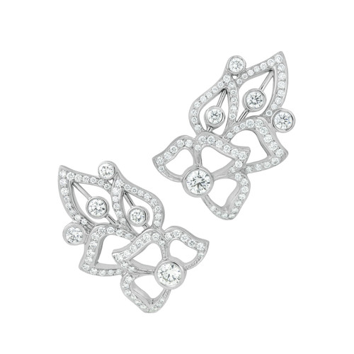 Florette Pave Diamond Wing Earrings