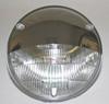 "5-3/4"" Headlamp Light Bulb Chrome Trim Cover Half Moon For Motorcycle Headlight"