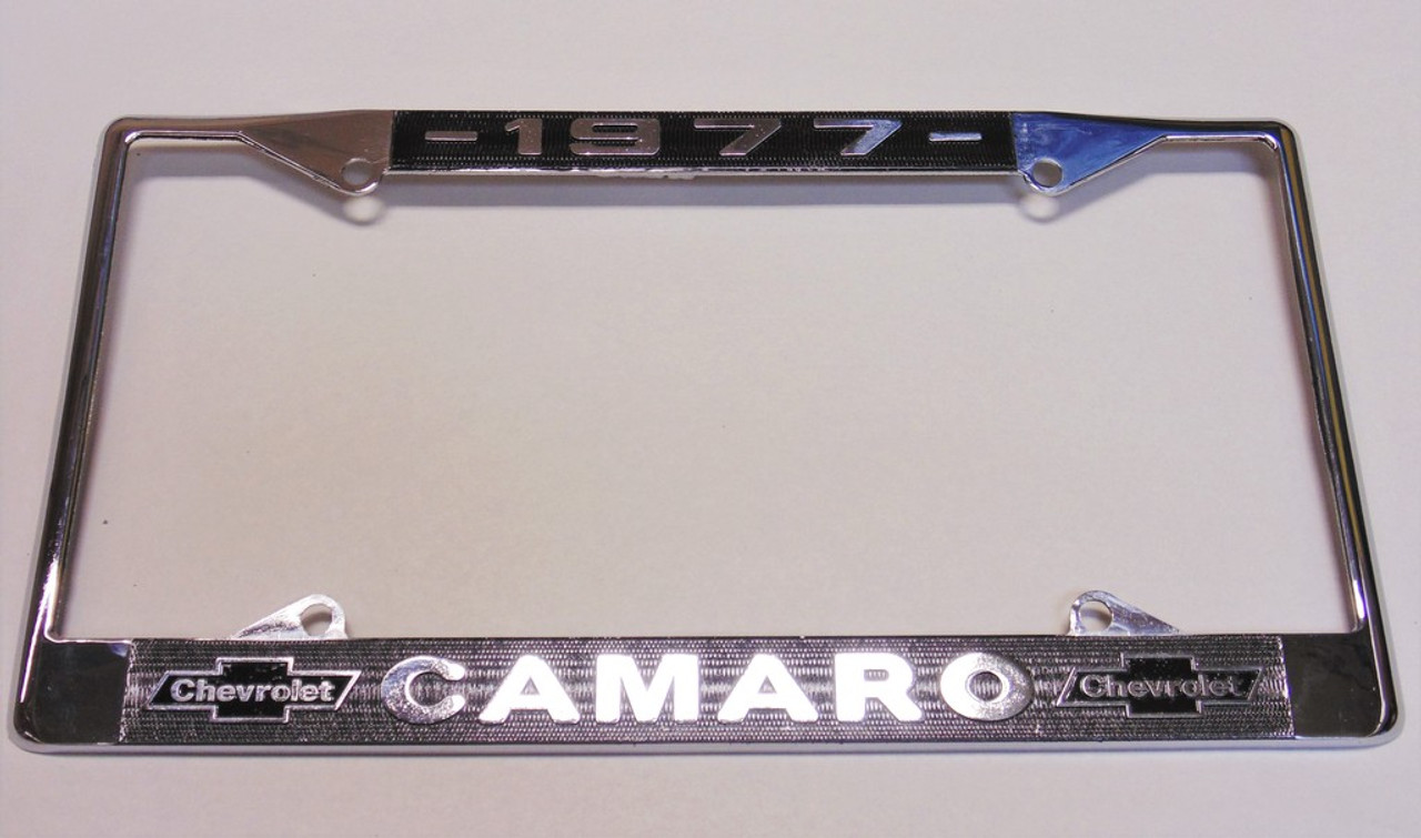 77 1977 Chevy Chevrolet CAMARO Chrome License Plate Frame - I-5 ...