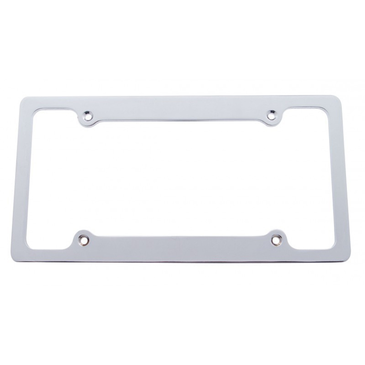 Solid Billet Brushed Aluminum 4-hole License Plate Frame - I-5 ...