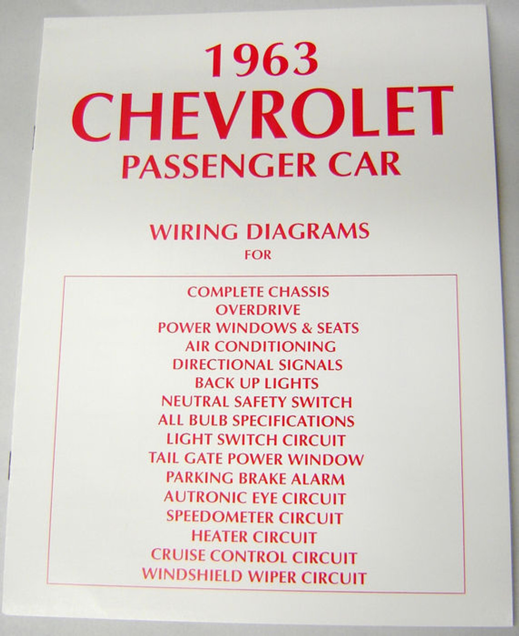 63 chevy impala electrical wiring diagram manual 1963 i 5 classic rh i5chevy com 1990 Chevy 1500 Tail Light Wiring Truck Tail Light Wiring
