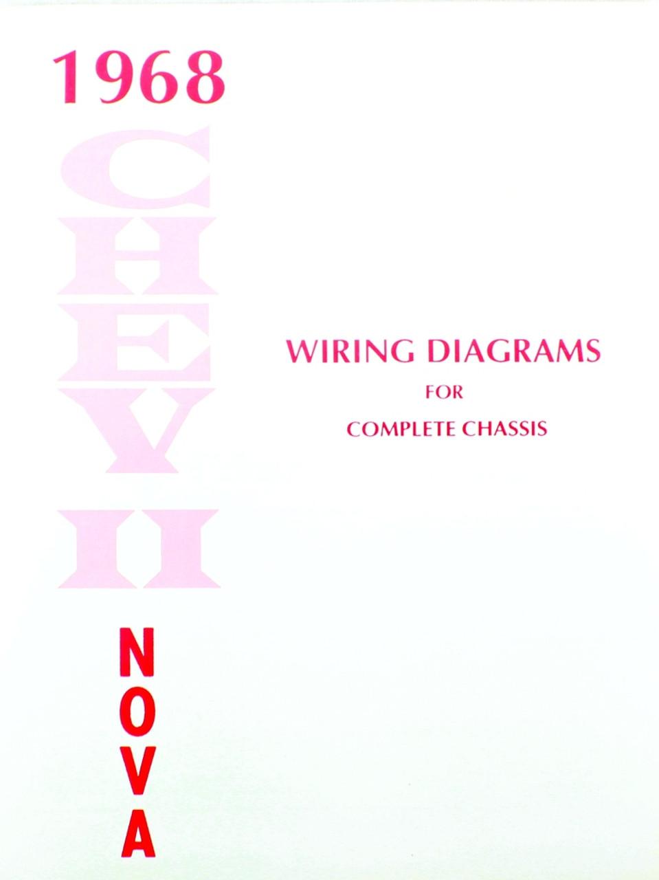 68 1968 Chevy Nova Electrical Wiring Diagram Manual - I-5 Classic Chevy
