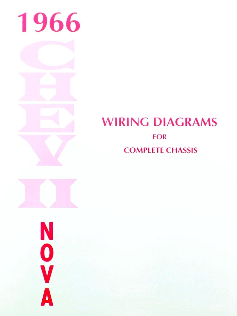 66 CHEVY NOVA ELECTRICAL WIRING DIAGRAM MANUAL 1966 - I-5 Classic ...