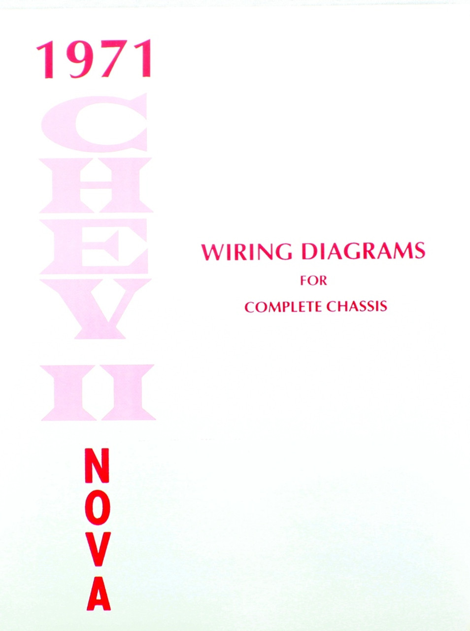 71 1971    CHEVY    NOVA ELECTRICAL    WIRING       DIAGRAM    MANUAL  I5