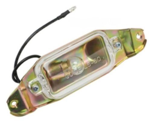 61 62 63 64 IMPALA REAR BUMPER PANEL LICENSE PLATE LIGHT BULB LENS ASSEMBLY NEW