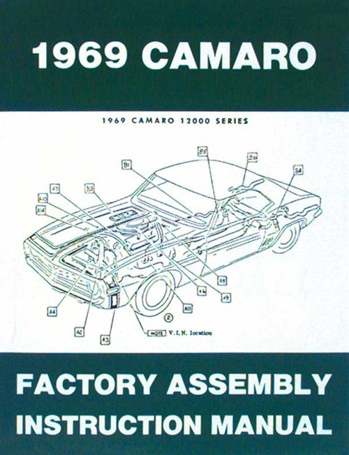 69 1969 CHEVY CAMARO FACTORY ASSEMBLY MANUAL GUIDE BOOK