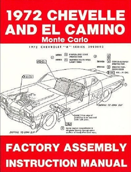 71 1971 Chevelle El Camino Electrical Wiring Diagram Manual